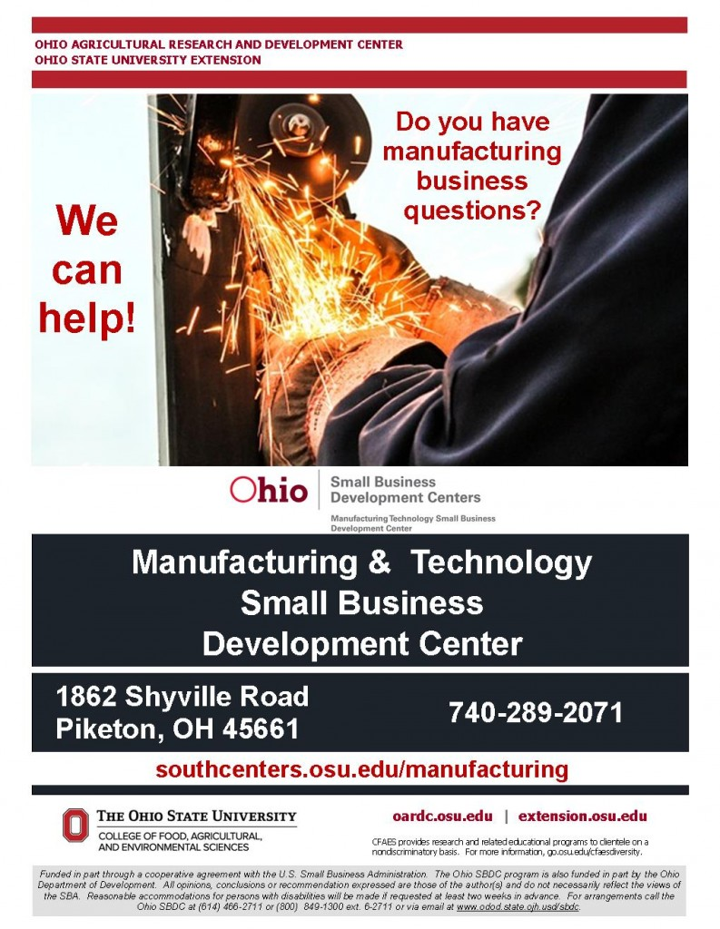 Manufacturing and Technology Small Business Development Center