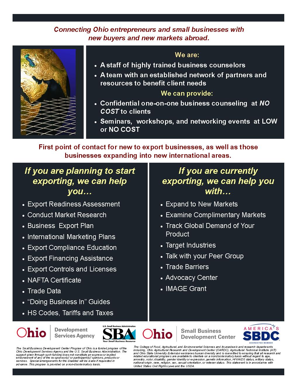 SBDC Export Assistance Center 2