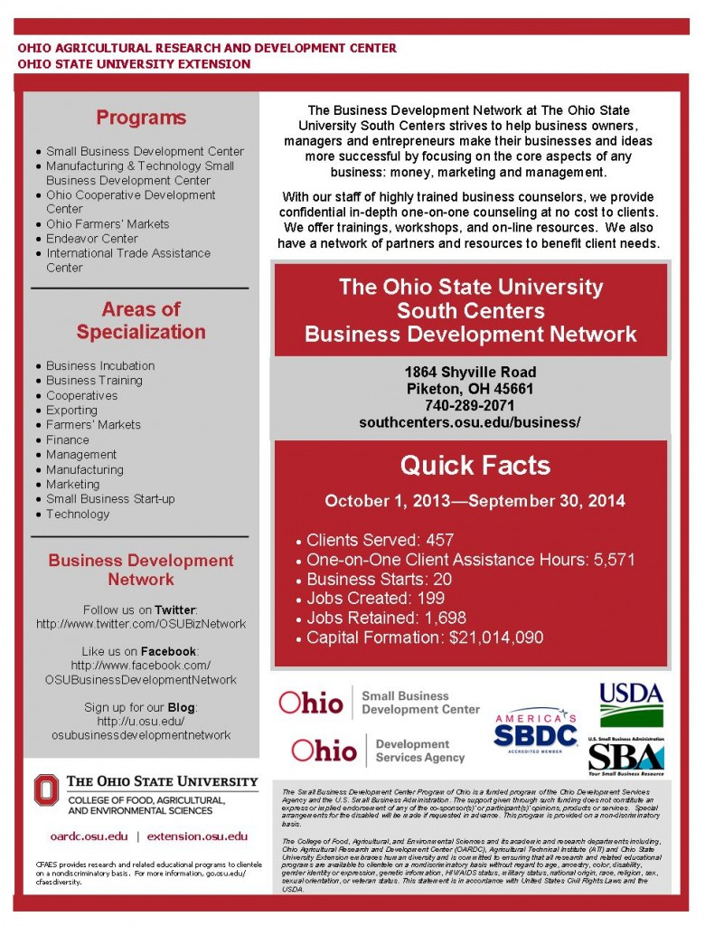 2013-2014 OSU BizTeam Fact Sheet