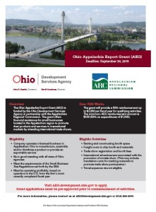 Ohio Appalachia Export Grant (AEG)