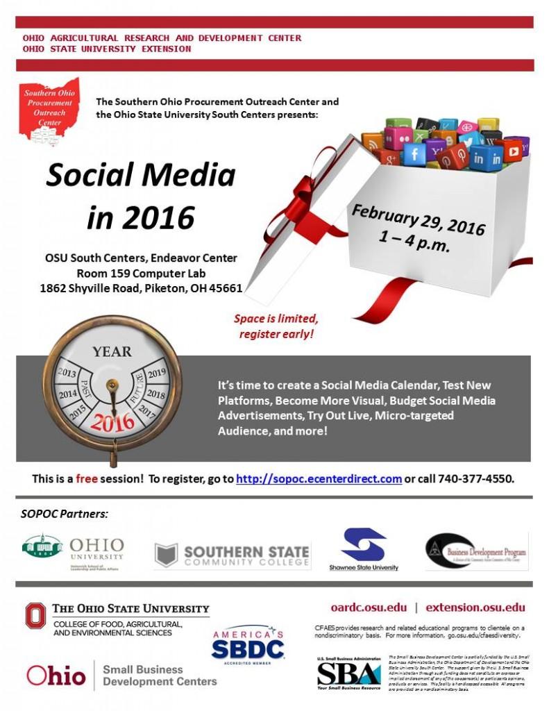2016 2-29 Social Media in 2016 Flyer