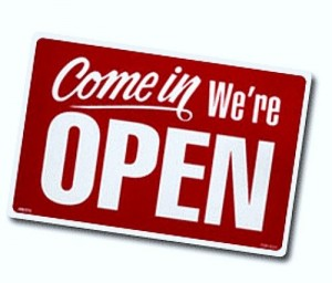 Yes we are open - clipart