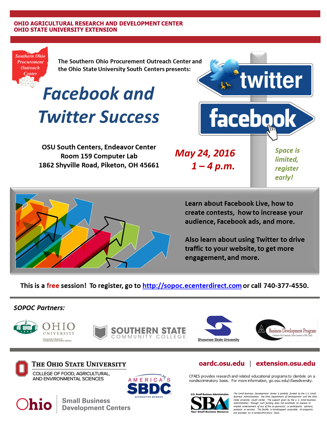 5-24-2016 Facebook and Twitter Success