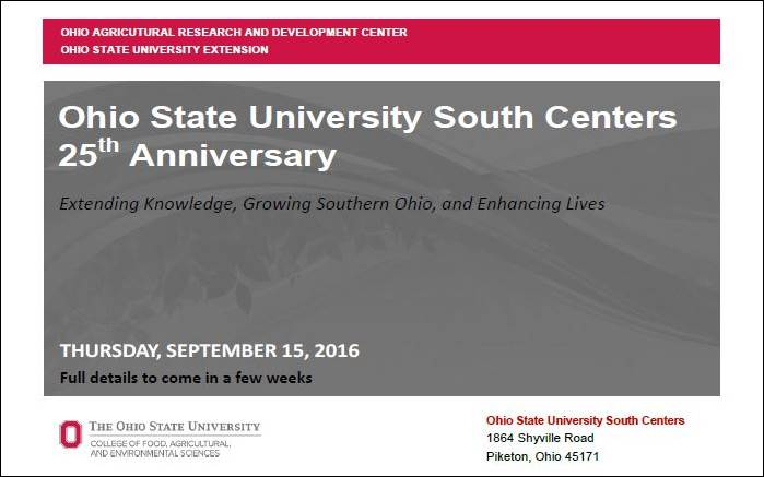 Save the date 25th Celebration OSU South Centers