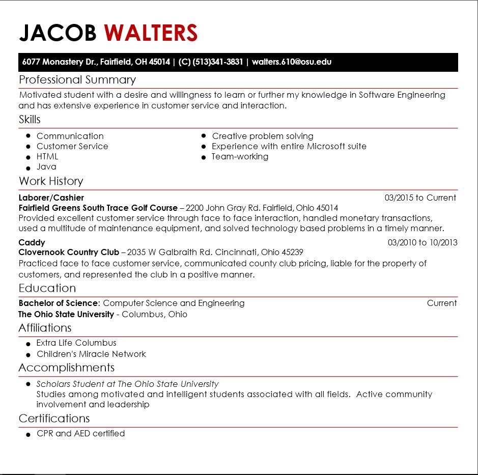 Jacob Walters Honors Scholars E Portfolio