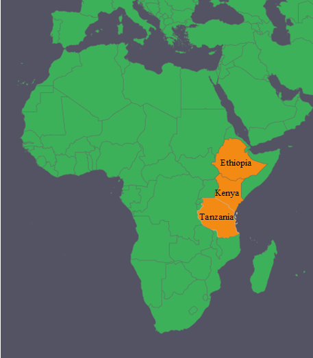 Where We Work East Africa Vegetable Integrated Pest Management - Where is tanzania located