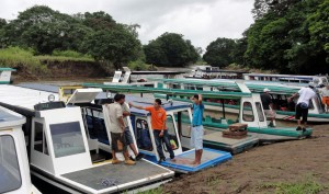 Boats to Tortuguero