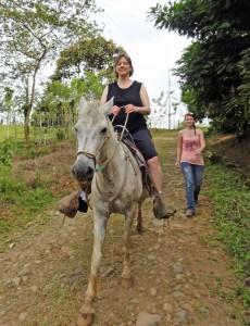 Riding a horse at Laureles Farm.