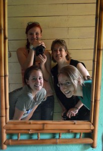 Me and my housemates at Laureles Farm. Clockwise from upper left: Becca, me, Carla, Leesha.
