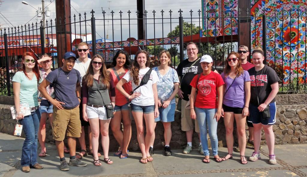 Group photo near the ox cart.