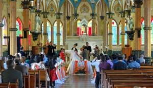 Wedding in progress in Zarcero
