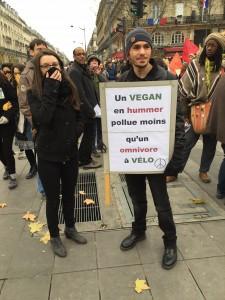 Vegan demonstrators