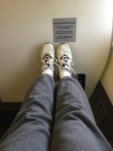 Lots of legroom in business class