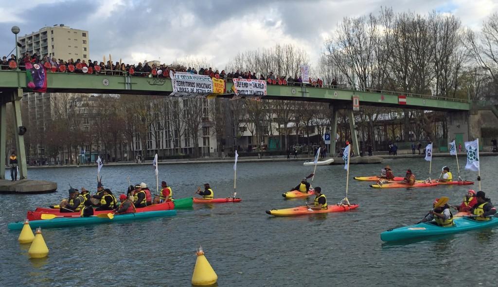 Indigenous flotilla in Paris
