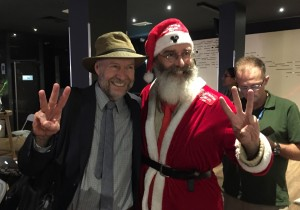 James Hansen and Sustaina Claus at Place to B.