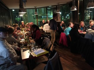 The Sierra Club held its Saturday dinner at a restaurant near Generator Hostel in Paris.