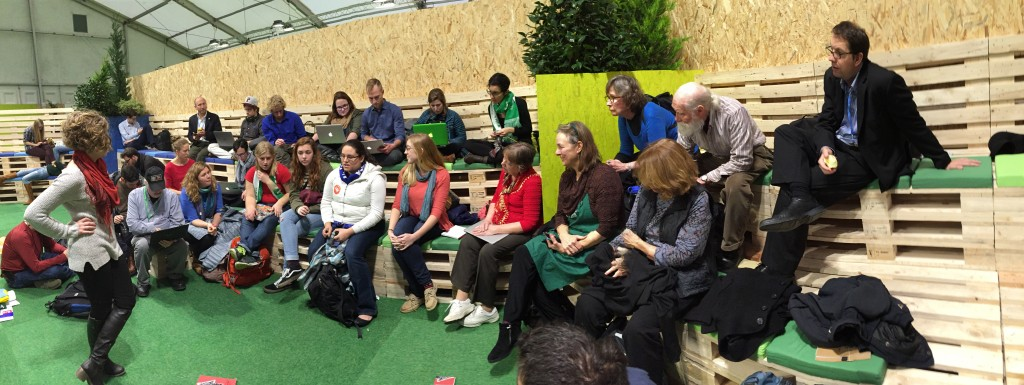 Final meeting of the Sierra Club delegation at Climate Generations.