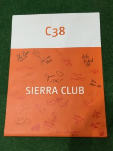 Sierra Club members signed its COP21 sign.
