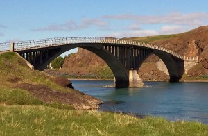 This bridge marks a major north-south thoroughfare in Iceland.