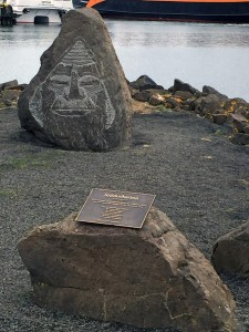 Memorial to a ship that sunk in 1924 Tobba's grandfather was the captain.