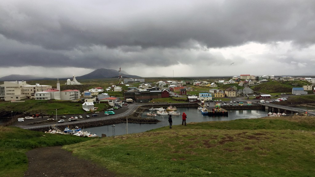A view of Stykkishólmur from the island lighthouse.