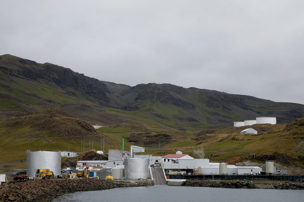 Whale processing station operated by Hvalur HF, in Hvalfjörður, Iceland. Photo: Arnaldur Halldorsson/Bloomberg