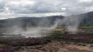 Hot springs at Geysir.
