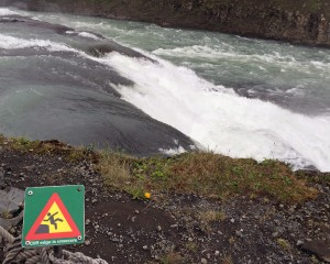 Watch your step at Gullfoss.