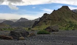 Boulders in the Þórsmörk valley