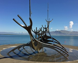 Sun Voyager, sculpture as you enter Reykjavik.