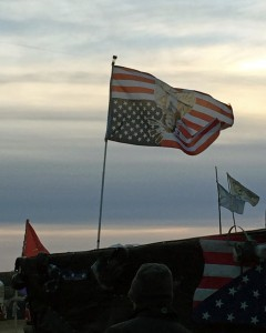 The flag at Benji's camp, where the Ohio people were staying.