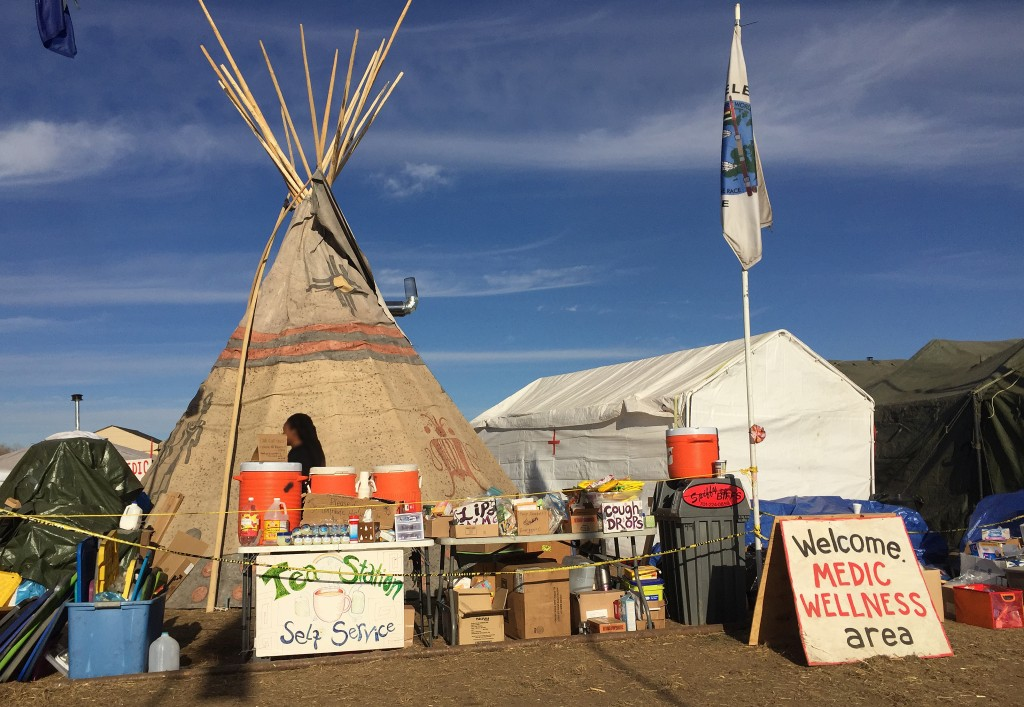 The medic tent at Oceti Sakowin camp