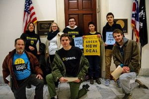 Ohioans lobby Rep. Joyce Beatty's office in Washington, D.C., asking her to support the Green New Deal.