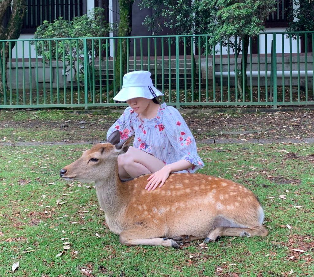 With Deer!