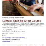 Lumber Grading Short Course