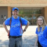 Two staff from Byrd Polar standing outside smiling