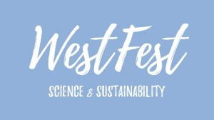 WestFest Science & Sustainability graphic design in blue and white