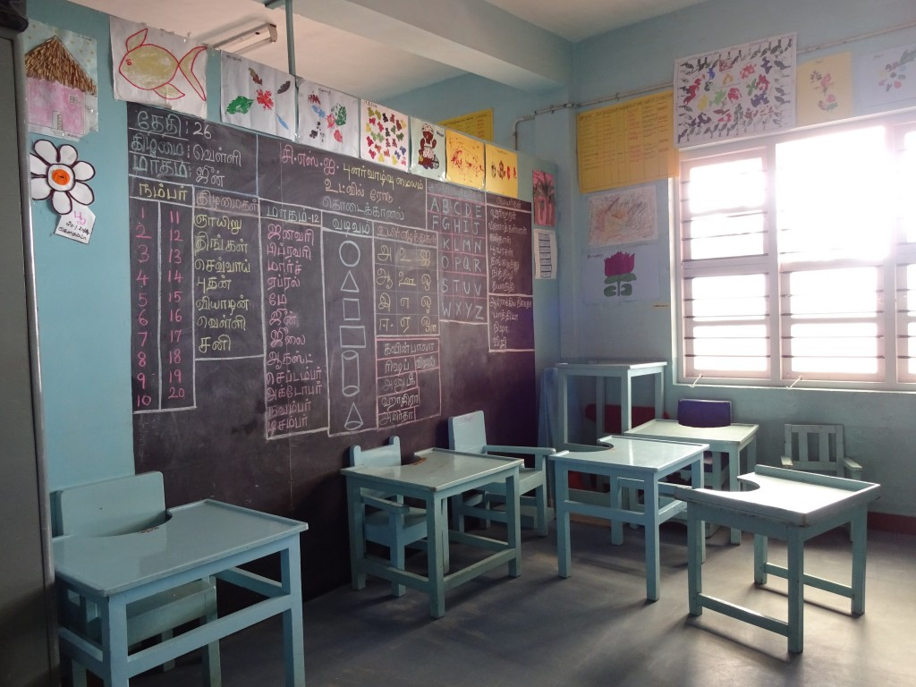 A classroom in the special classroom
