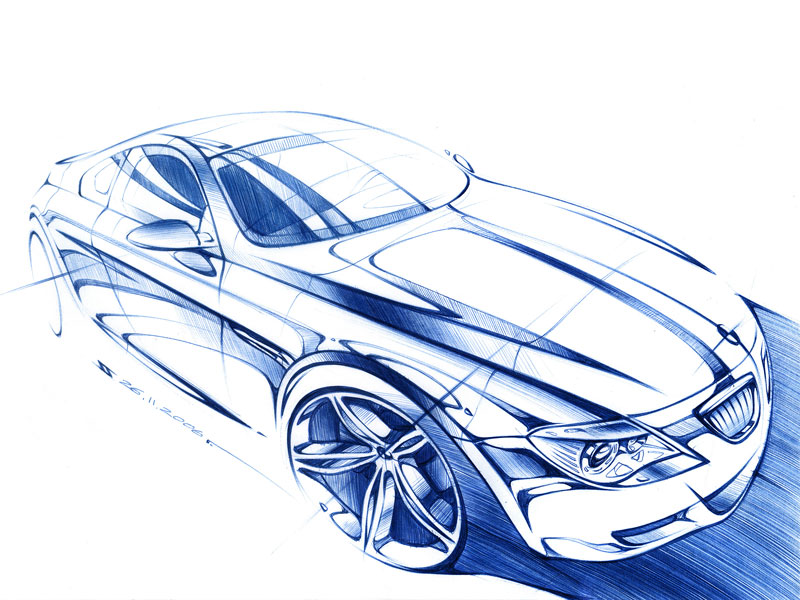 Car Sketch with a Ballpoint Pen"