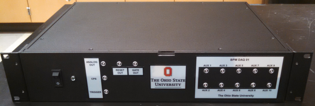The first BPM data acquisition system manufactured a few minutes before it was packed for shipping.