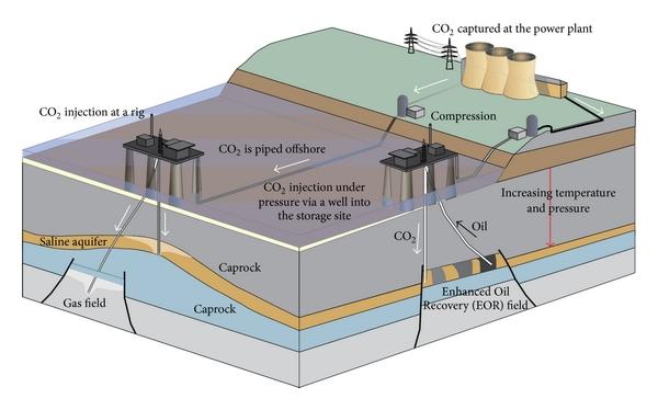 Figure 1: Depiction of Carbon Capture and Storage (CCS) parts and steps