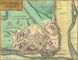 Map of Quebec in 1755