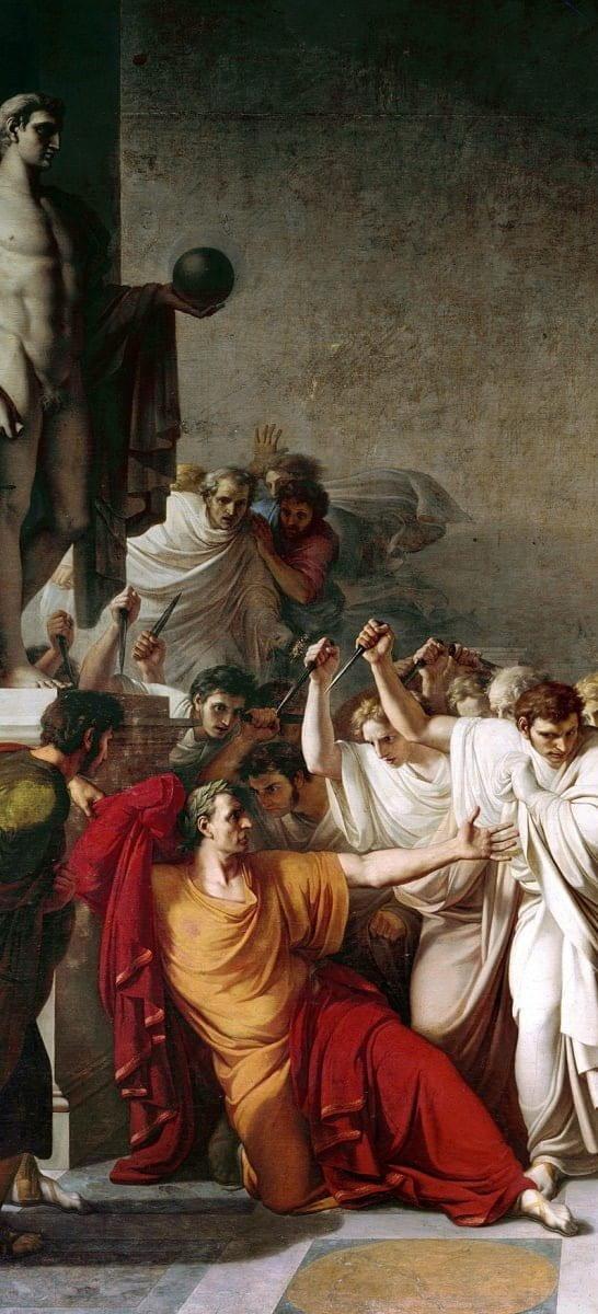 Painting - Julius Caesar Assassin Ides of March