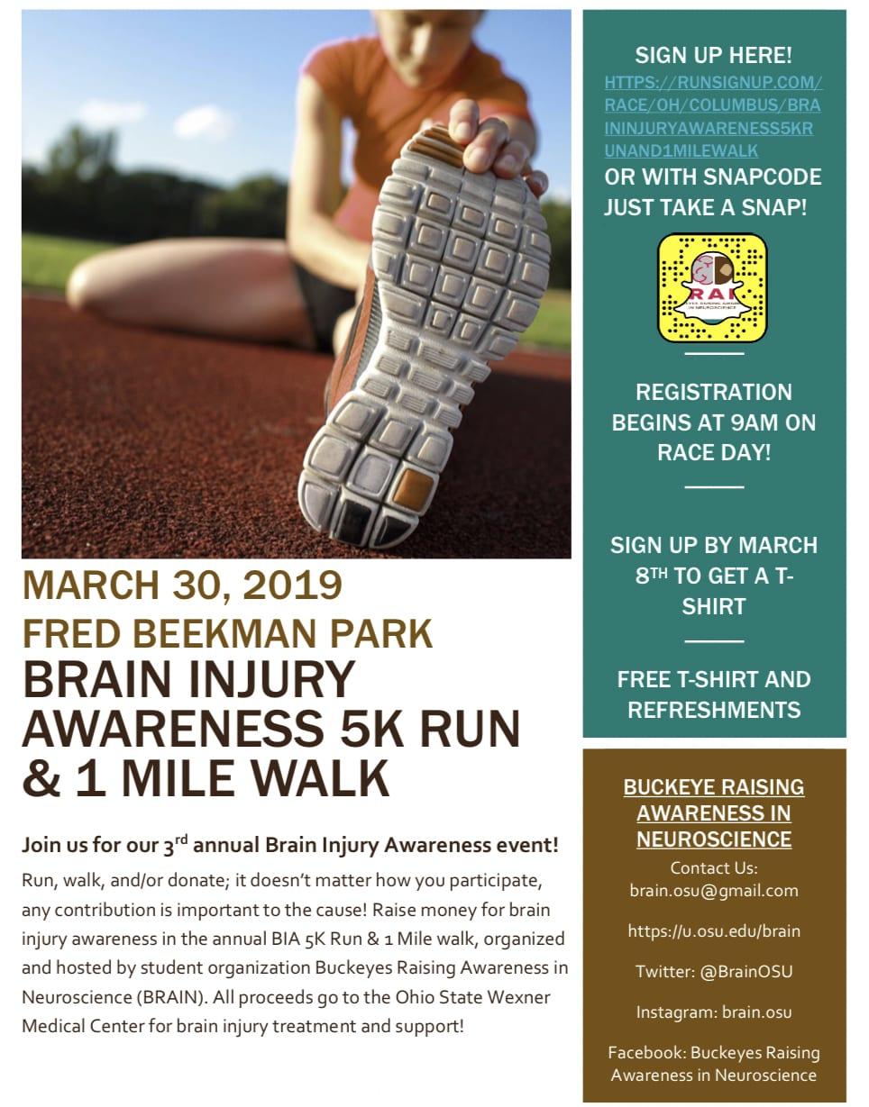 Brain Injury Awareness Run & Walk | Buckeyes Raising