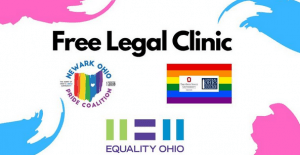 Logos of the Newark Ohio Pride Coalition, Equality Ohio, and the Employee Resource Group.