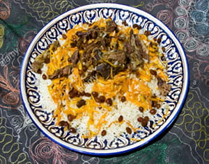 A plate of a rice dish