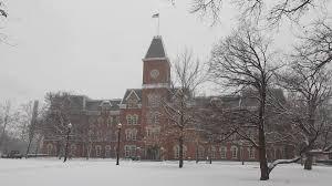 University Hall Snow