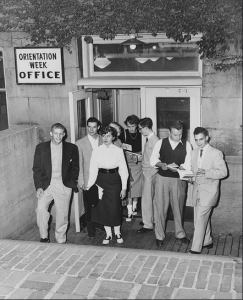Freshman orientation, September 1953 (Photo courtesy of University Archives)