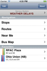 Bus App Screenshot