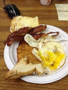 eggs bacon